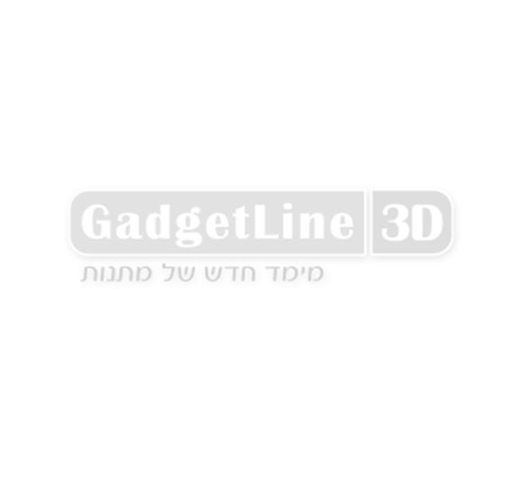 """שעון קיר זכוכית ומראה בעיצוב מגן דוד כחול 35 ס""""מ"""