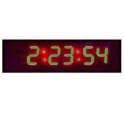 שעון קיר דיגיטלי גדול 48 ס''מ - לד ירוק
