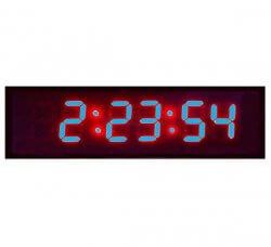 שעון קיר דיגיטלי גדול 48 ס''מ - לד כחול