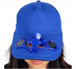 כובע מצחייה עם מאוורר סולארי