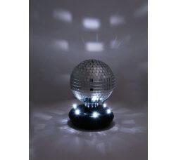 כדור דיסקו מראתי עם אורות LED